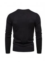 Solid Casual Versatile Cozy Men Pullover Sweater