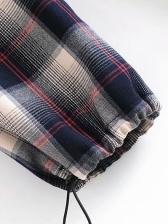 Winter Thicker Plush Casual Plaid Pants