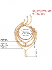 Multilayer Simple Chain Butterfly Bracelet Set