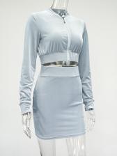 Letter Rhinestone Design Twp Piece Skirt Sets