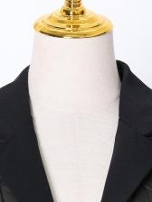 Lapel Collar Duck Down Vest Coat For Winter