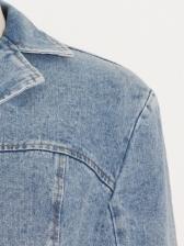 Fashion Crop Top Wide Leg Three Piece Denim Sets