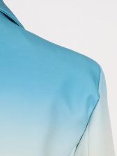 Boutique Gradient Color Single Breasted Ladies Blazer