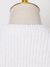 Chic Embroidery Rhinestone Crew Neck Sweater