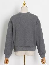 Chic Hollow Out Crewneck Sweatshirt