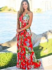 Plus Size V Neck Summer Maxi Dresses