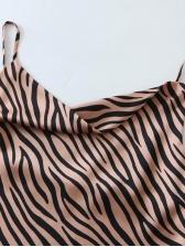 Animal Printed Backless Cami Top