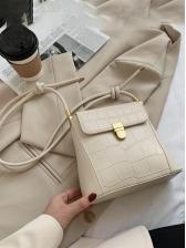 Vintage Solid Small Shoulder Bag