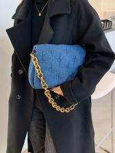 Autumn Solid Chain Shoulder Bags