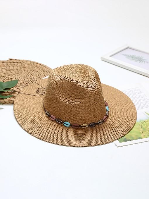 Outdoors Travel Beach Straw Sun Hat