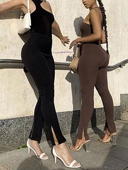 Skinny Sleeveless Camisole Two Piece Pants Set
