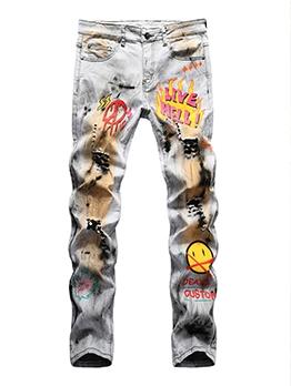 Street Hip Hop Tie Dye Jeans