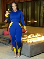 Contrast Color Two Piece Sweatsuit For Women