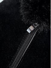 Euro Faux Fur Patchwork Snow Boots