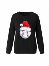 Christmas Hat Printed Crewneck Sweatshirt