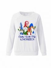 Christmas Pattern Long Sleeve Sweatshirts For Women