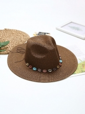 Outdoors Travel Beach Straw Sun Hat