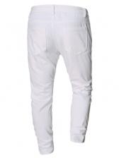 Autumn White Denim Pants Men