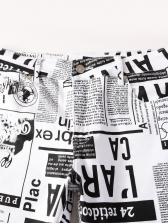 Street Newspaper Print Jeans Men