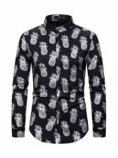 Fashion Fruit Print Long Sleeve Shirt