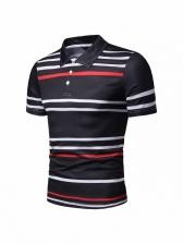 Fashion Striped Mens Polo Shirts