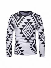 Casual Print Long Sleeve T Shirt