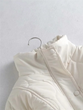 Stand Neck Solid Color Winter Warm Coat