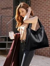 Large Capacity Soft PU Shoulder Bag