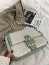 Chic Solid Stone Pattern Crossbody Shoulder Bag