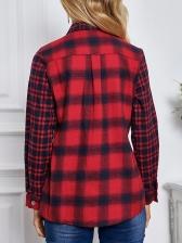 Bust Pockets Single-Breasted Plaid Shirt