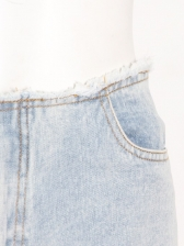 British Style Blue High Rise Straight Jeans