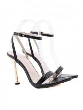 Simple Pointed Toe High Heel Summer Sandals