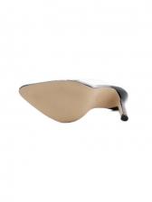 Fashion Clear Upper High Heel Womens Slippers