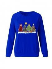 Christmas Trees Printed Long Sleeve Sweatshirts