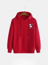 Cartoon Panda Print Hoodies For Men Fashion