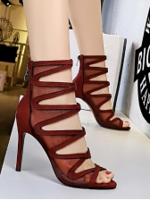 Sexy Gauze Open Toe Hollow-Out Summer Boots