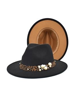 Faux-Pearl Accessories Gentleman Felt Hat