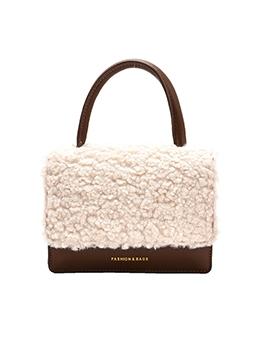 Autumn Wool Patchwork Handbags Women