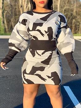 Stylish Printed Top And Skirt Set