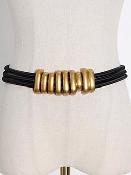 Easy Matching Metal Ring Belts For Women