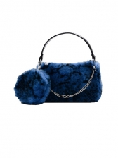 Cute Plush Zipper Handbags For Women