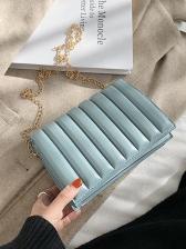 Simple Design Solid Color Chain Shoulder Bag