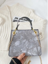Chic Tie Dye Chain Shoulder Bag With Handle
