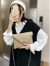 Euro Style Snake Print Chain Shoulder Bag