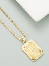 Simple Hip Hop Copper Fashion Letter Necklace