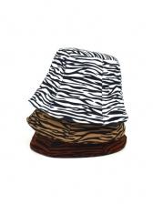 Zebra-Stripe Woolen Winter Women Fisherman Hat