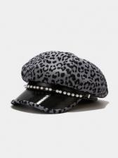 Leopard Chic Online Outdoors Navy Cap