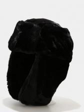 Solid Simple Imitation Rabbit Hair Ski Cap