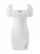 V Neck Nightclub Short Sleeve Bodycon Dress