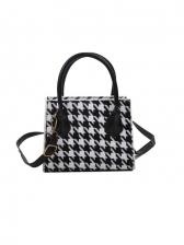 Vintage Houndstooth Cross Body Handbags